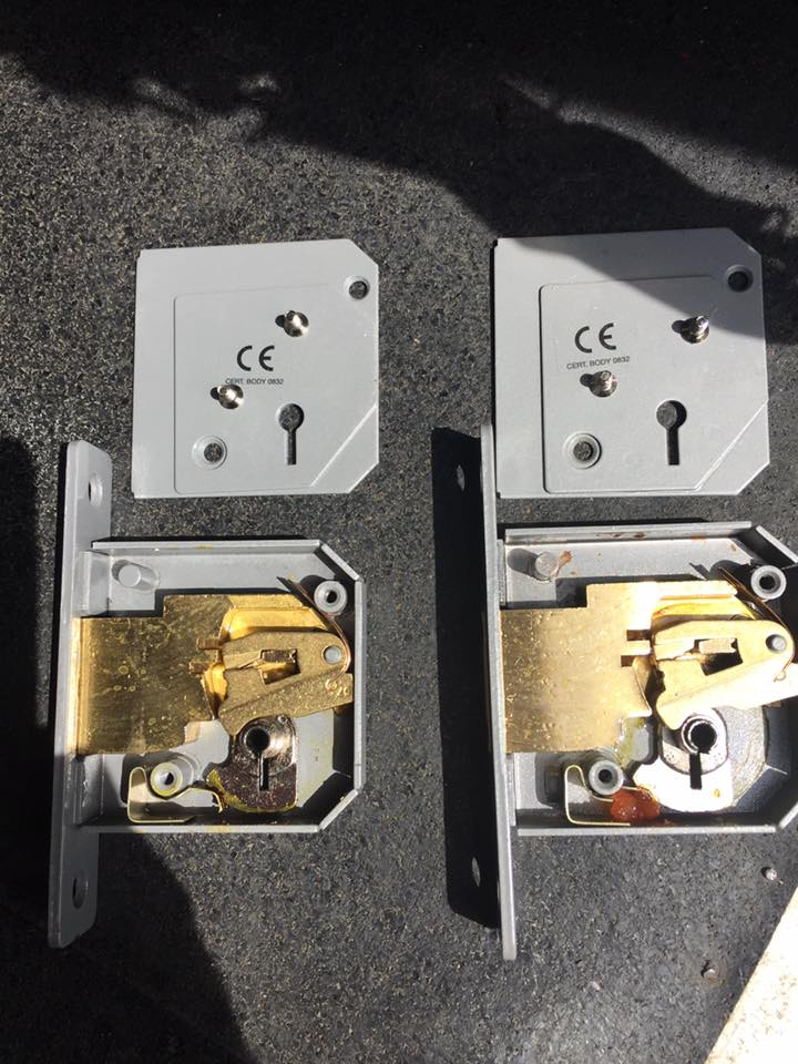 Upgrading Chubb Lock internals after a break in for a local commercial customer